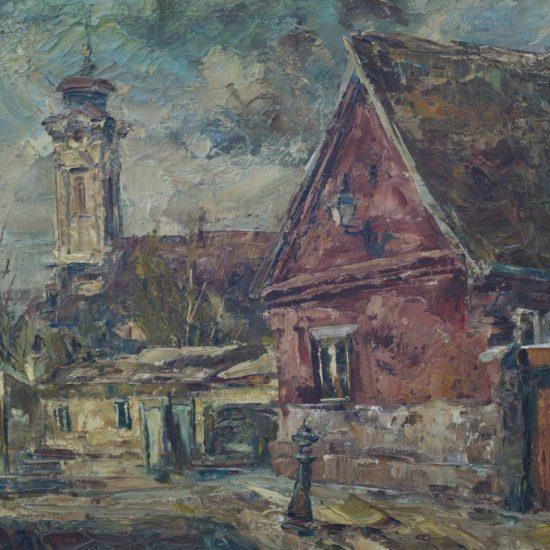 Kuća Marka Nešića, ulje na platnu, autor: Spasic, 1981